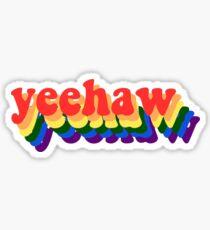 Yeehaw - Regenbogen Sticker