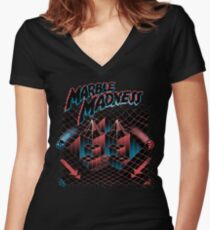 Madness Marbles Women's Fitted V-Neck T-Shirt