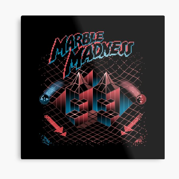 Madness Marbles Metal Print