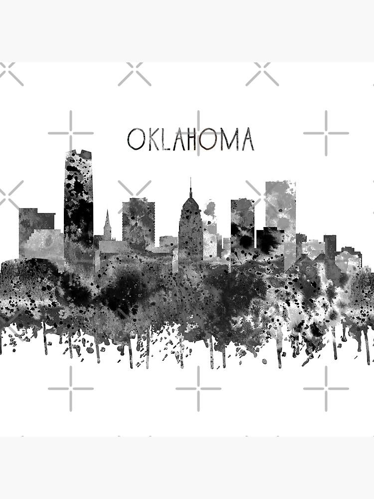 Oklahoma-Skyline, Aquarell Oklahoma von Rosaliartbook