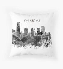 Oklahoma Skyline, watercolor Oklahoma Throw Pillow