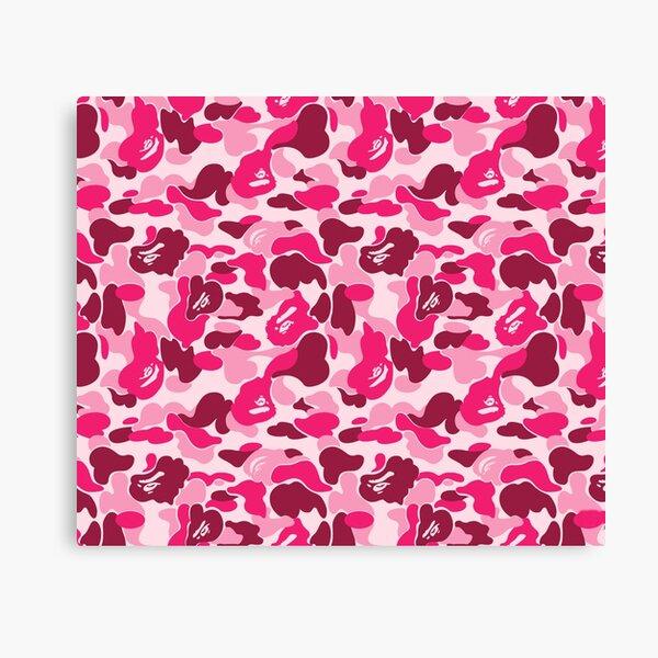 Pink Bape Camo Canvas Print