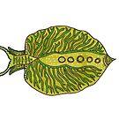 Emerald Green Sea Slug by Hana Ayoob