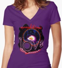 unconditional love Women's Fitted V-Neck T-Shirt