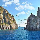 Rocks in the Aeolian islands by nicolagiordano