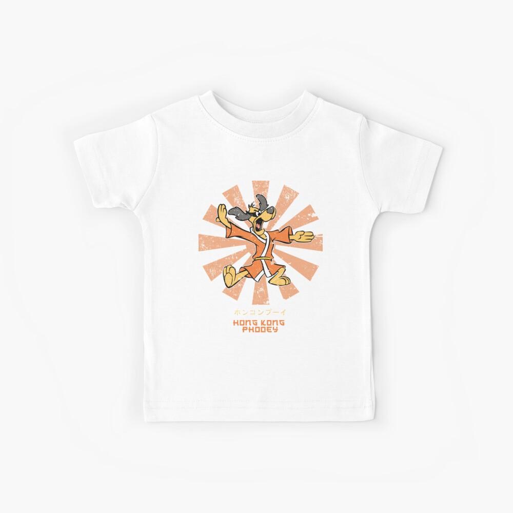 Hong Kong Phooey Retro Japaner Kinder T-Shirt