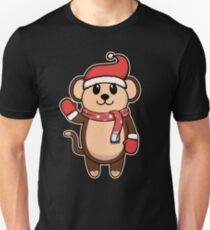 Animal child monkey Christmas winter gift Unisex T-Shirt