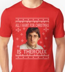 0a81ffc11cfb All I Want For Christmas Is Louis Theroux Knit Pattern Slim Fit T-Shirt