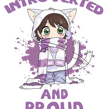 Funny Introvert Tshirt for Anime Chicks and geeks Tee by kmpfanworks
