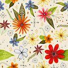 «Flores y hojas llamativas y brillantes.» de Stacey Oldham