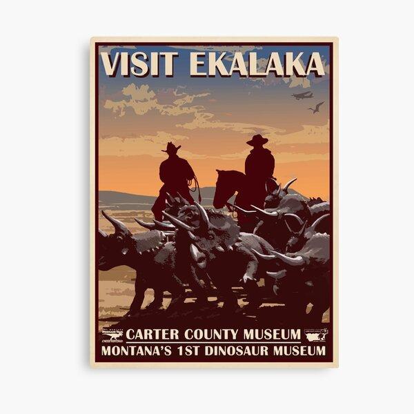 Cretaceous Cowboy Canvas Print
