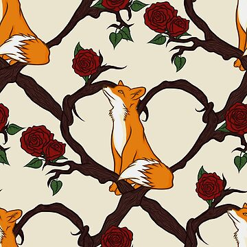 Woodland Heart and Fox by GoodbyeDolly