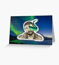 Drake - Aurora Borealis Greeting Card