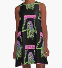 My Eyes Are Up Here A-Line Dress