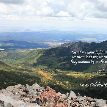 Celebrating Christ Summit Story Mug with Psalm by sdawsoncc