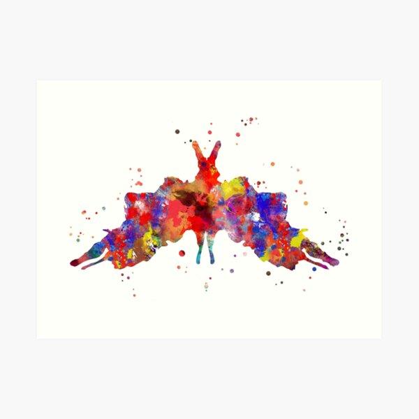 Rorschach, watercolor Rorschach, card 5 Art Print