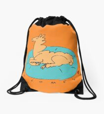 The Comfy Llama Drawstring Bag