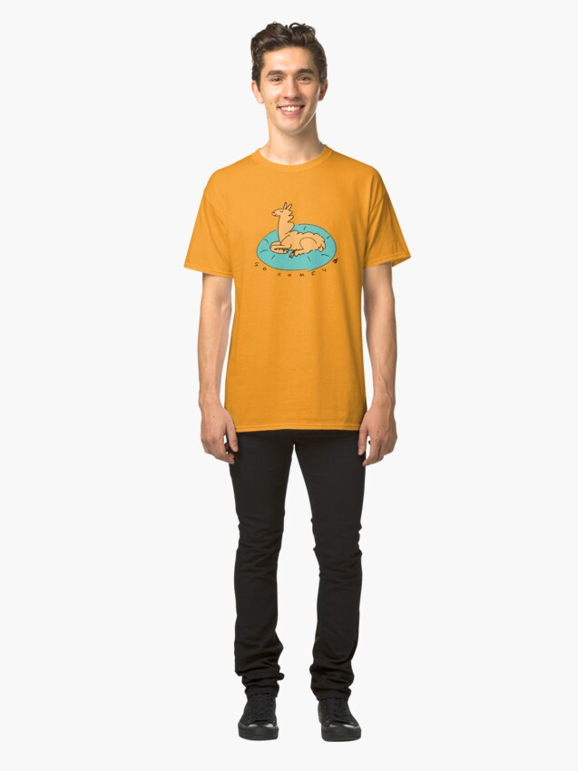 Alternate view of The Comfy Llama Classic T-Shirt