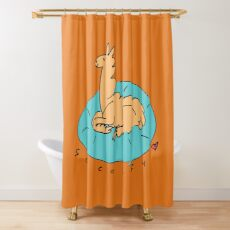 The Comfy Llama Shower Curtain