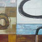 Light Abstract graffito Acrylics on Canvas, Oil Painting, Framed art by diasha