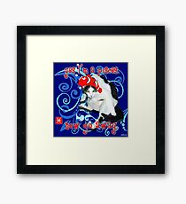 Checkers Pisces Framed Print