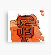 San Francisco Giants Map Metal Print