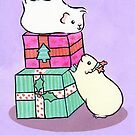Guinea pigs love Christmas gifts by zoel