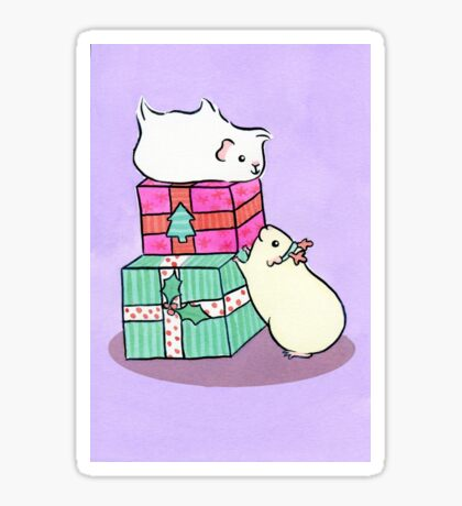 Guinea pigs love Christmas gifts Sticker