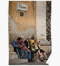 Santa Caterina Bench Poster
