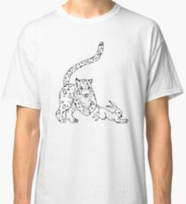 The Chase - Snow Leopard Sketch Classic T-Shirt