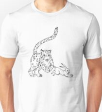 The Chase - Snow Leopard Sketch Unisex T-Shirt