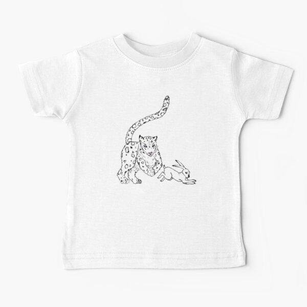 The Chase - Snow Leopard Sketch Baby T-Shirt