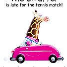 The Giraffe! And late for the Thursday tennis match! by Sunil Bhardwaj
