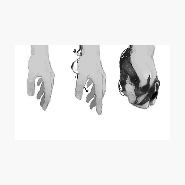 how to hold hands with your partner when you share the same body Photographic Print