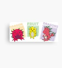 Dragon Fruit Dragons-All 3!  Metal Print