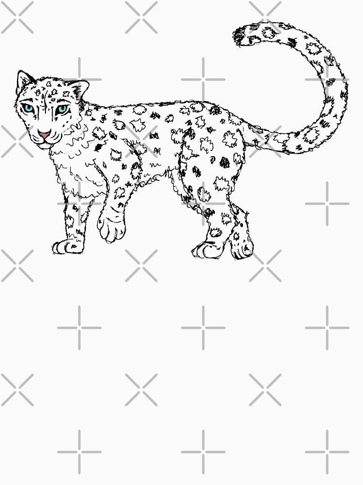 Roaming - Snow Leopard Sketch by LittleMissTyne