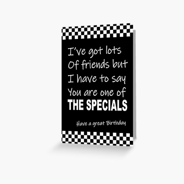 SKA Birthday humour card Greeting Card