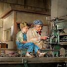 Machinist - Spending time with grandpa 1921 by Michael Savad