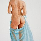 Turquoise sarong by Freda Surgenor