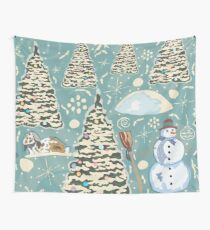 Winter Pattern Wall Tapestry