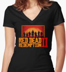 Red Dead Redemption 2 - Unisex Women's Fitted V-Neck T-Shirt
