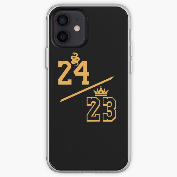 Kobe 24 LeBron 23 Gold iPhone Soft Case