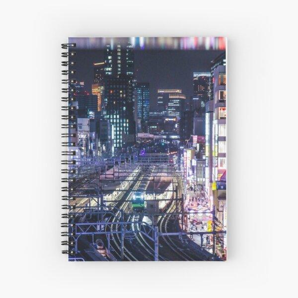 Tokyo Trains at Night Spiral Notebook