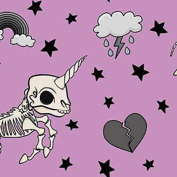 Pink Skeleton Unicorn by GoodbyeDolly