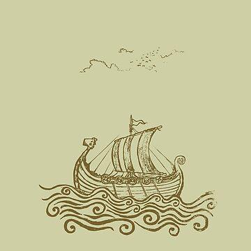 Viking ship by mangulica