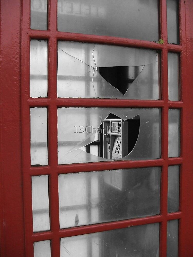 Phone Booth Looking through the window of Time by 13Charli13