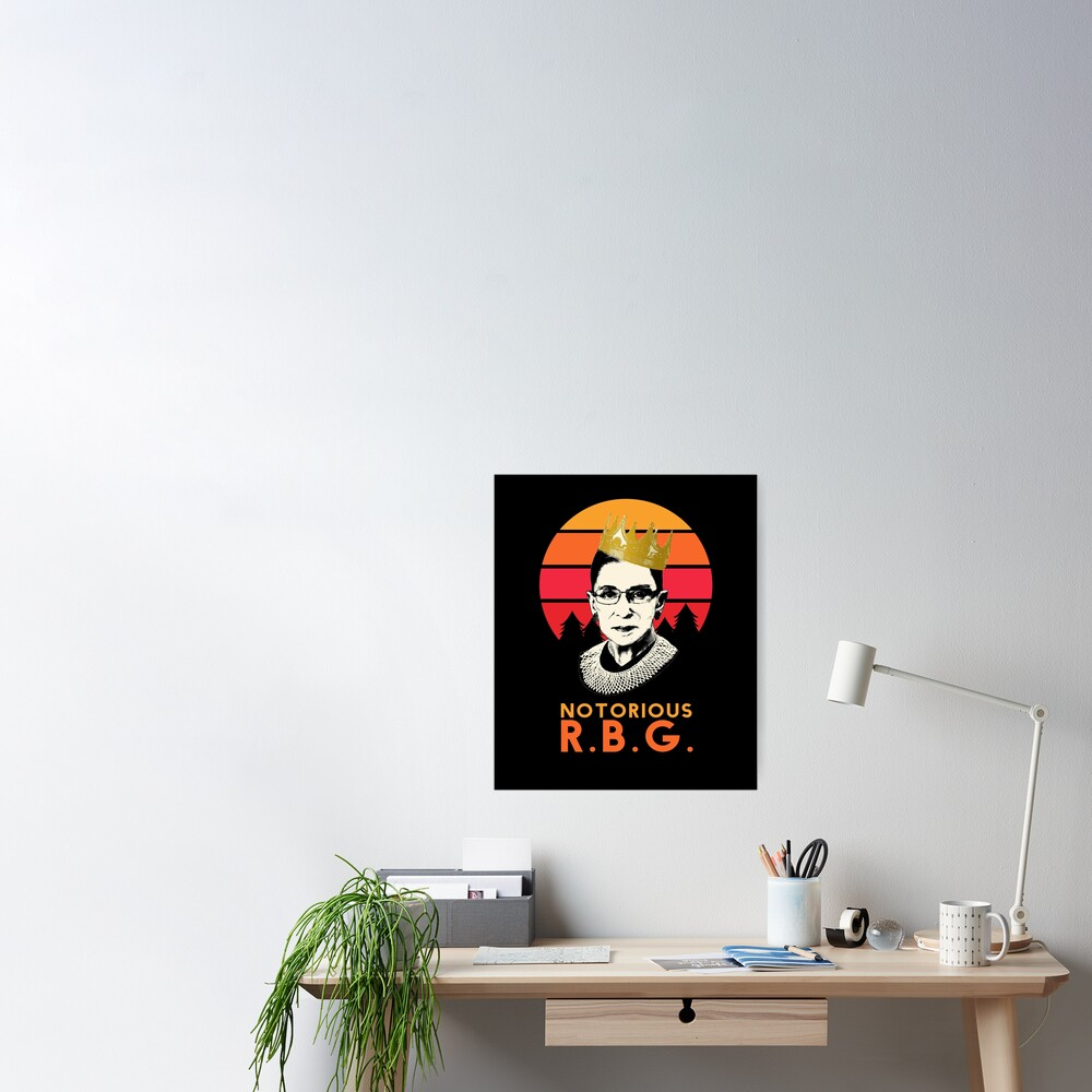 Funny Notorious RBG T-shirt, RGB notorious merch - rbg Apparel and Stickers Poster
