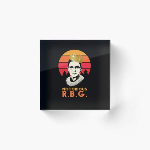 Funny Notorious RBG T-shirt, RGB notorious merch - rbg Apparel and Stickers Acrylic Block