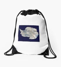 Satellite Image of Antarctica  Drawstring Bag
