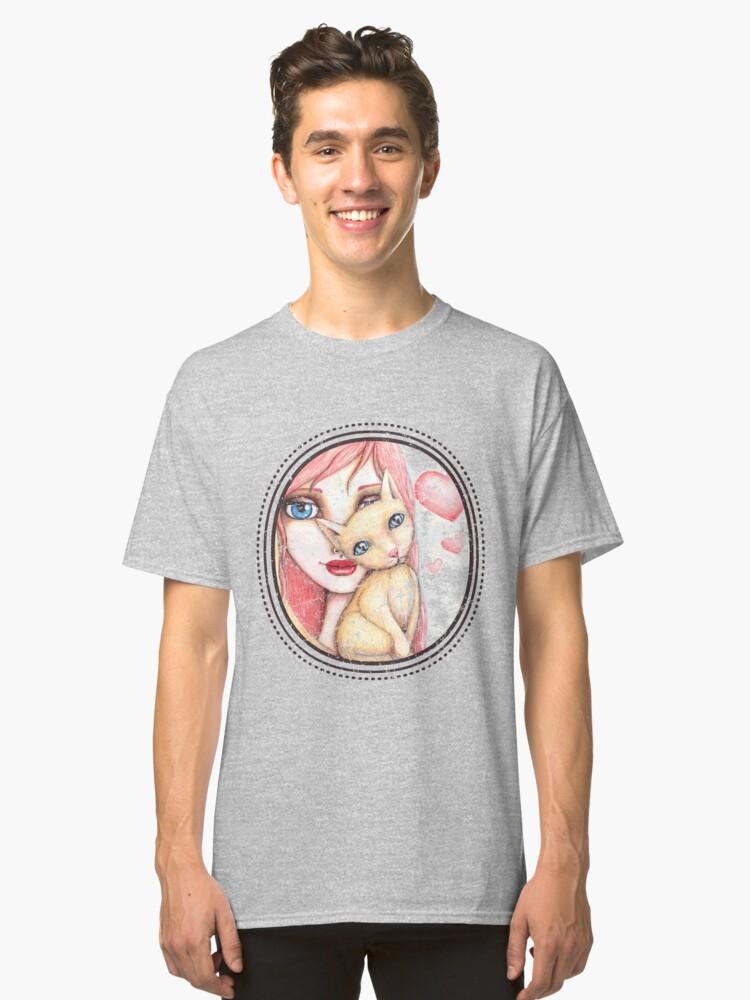 Alternate view of Kitten Selfie Classic T-Shirt